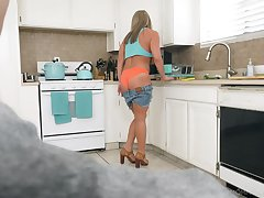 POV video be advisable for grown-up old bag Megan Hart giving head on every side the Nautical galley