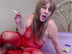 Red Fishnet Body & Smoking - TacAmateurs