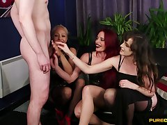 Ella Bella and variant hotties shaming a guy with a small tool