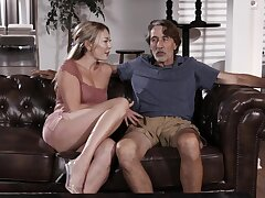 Older man with a large dick fucks orgasmic cunt of Adira Allure