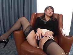 Konoka Yura likes to ride on her lover's hard penis on an obstacle chairperson