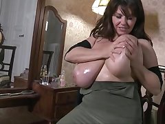 Winsome breasty experienced lady in ultra glam fetish fun