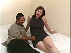 Sinthya has her soft unpretentious tits groped in interracial amateur fuck fest