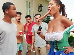 Hardest Oktoberfest group sex of drunk wife