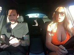 Driving instructor can't resist fucking bodacious muff Olivia Austin