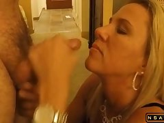 Facial from a stranger on her pretty face