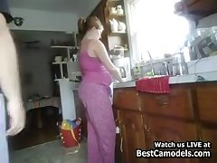 Pregnant Get hitched Fucked In Kitchen From Behind Cam