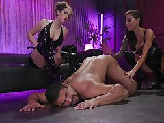 Prexy whore Gia DiMarco has strapon to fuck the shit out submissive dude