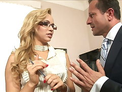 He cums Two Times on her: Job Interview turned into hard anal
